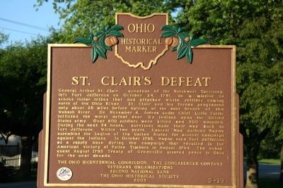 St. Clair's Defeat Marker image. Click for full size.