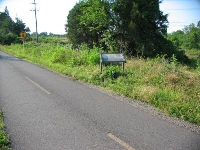 Marker along the W&OD Trail image. Click for full size.