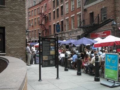 Marker on Historic Stone Street image. Click for full size.