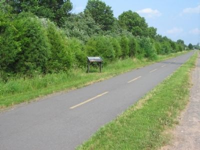 Marker along the W&OD Trail Photo, Click for full size