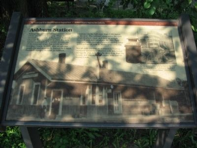 Ashburn Station Marker Photo, Click for full size