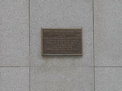 First Latin School of New Amsterdam Marker Photo, Click for full size