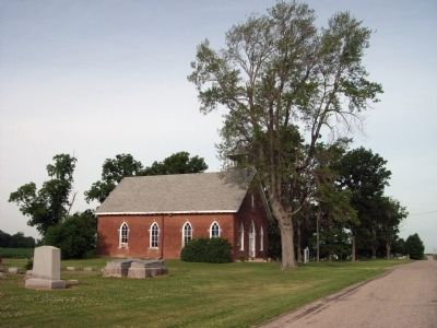 Close East Side - - Osborn Prairie Church image. Click for full size.