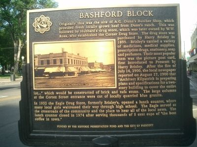 Bashford Block Marker image. Click for full size.