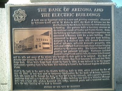 The Bank of Arizona and the Electric Buildings Marker image. Click for full size.