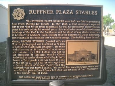 Ruffner Plaza Stables Marker image. Click for full size.