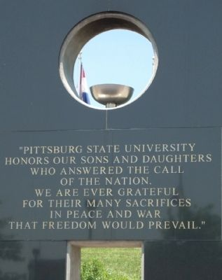 Pittsburg State University Veteran's Amphitheater Marker image. Click for full size.