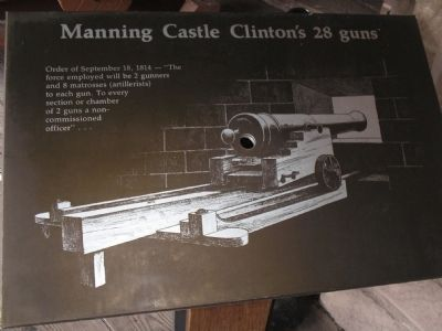 Manning Castle Clinton�s 28 guns Marker image. Click for full size.