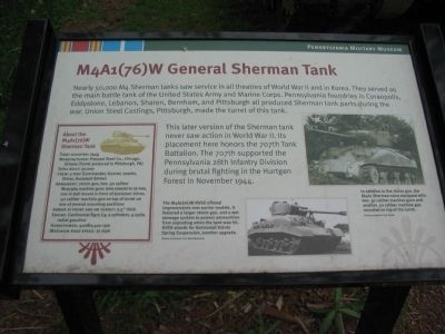 M4A1(76)W General Sherman Tank Marker image. Click for full size.