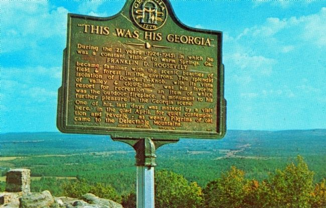 Marker at Dowdell's Knob image. Click for full size.