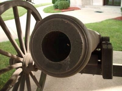Muzzle View - - Monroe Street Cannon image. Click for full size.