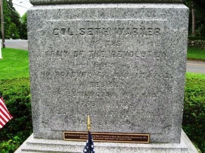 Col. Seth Warner Monument image. Click for full size.