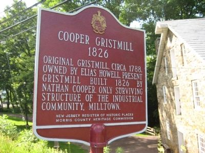 Cooper Gristmill Marker image. Click for full size.