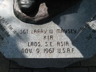 Sgt. Larry W. Maysey Marker image. Click for full size.