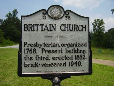Brittain Church Marker image. Click for full size.