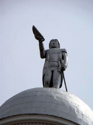 General Nathaniel Greene Atop the Greene County Courthouse image. Click for full size.