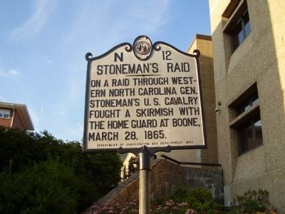 Stoneman's Raid Marker Photo, Click for full size