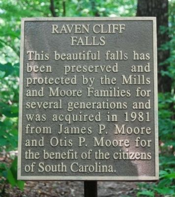 Raven Cliff Falls Marker Photo, Click for full size