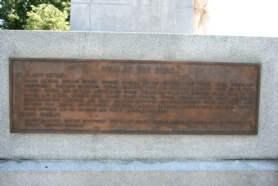 Fort Recovery Monument Marker image. Click for full size.