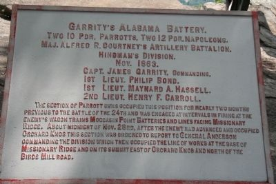 Garrity's Alabama Battery Marker Photo, Click for full size