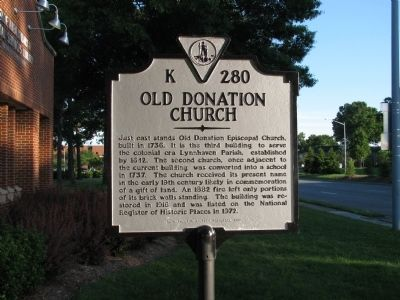 Old Donation Church Marker Photo, Click for full size