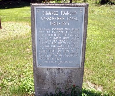 Wabash - Erie Canal Marker image. Click for full size.