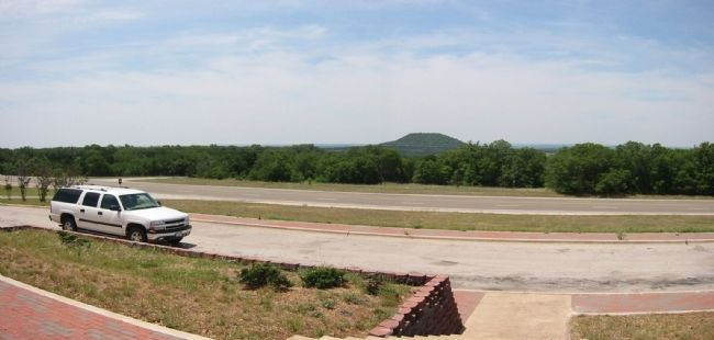 San Saba Peak. Photo looking west from historical marker. image. Click for full size.