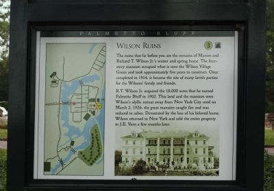 Wilson Ruins Marker image. Click for full size.