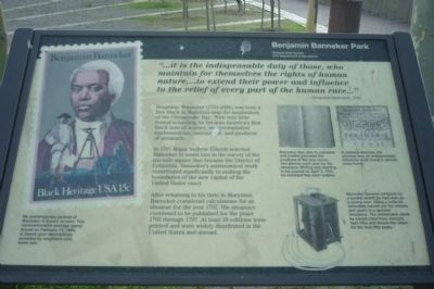 Benjamin Banneker Park Marker Photo, Click for full size