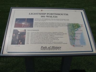 Lightship Portsmouth Marker image. Click for full size.