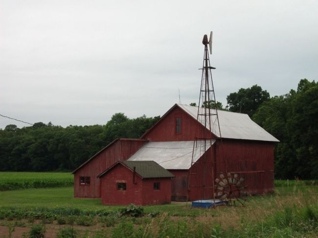 Windmill, Barn, and Garden ........... image. Click for full size.