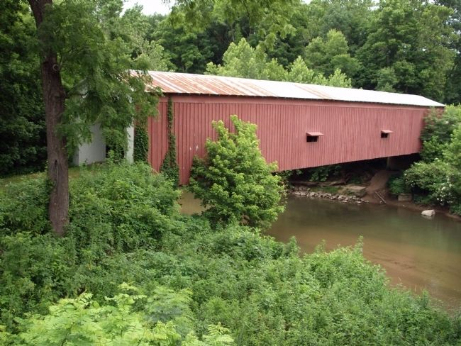 Full View - - Cades Hollow Covered Bridge image. Click for full size.