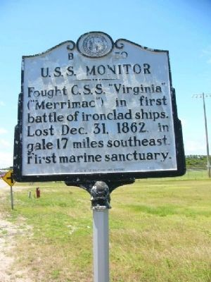 U.S.S. Monitor Marker image. Click for full size.