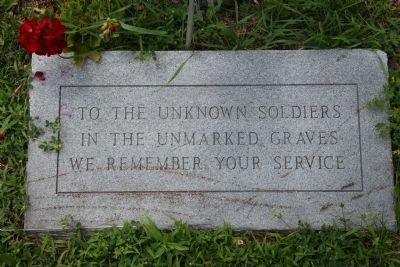 Memorial stone for Harrison's dead soldiers image. Click for full size.