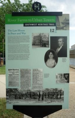 The Law House In Peace and War Marker Photo, Click for full size