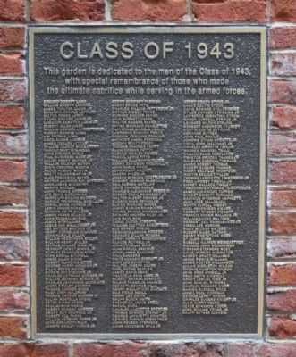 Class of 1943 Marker (L-Z) image. Click for full size.