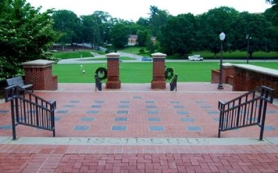 Military Heritage Plaza -<br>Looking East Across Bowman Field image. Click for full size.