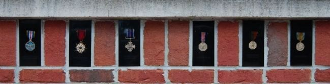 Military Heritage Plaza -<br>Row of Medals image. Click for full size.