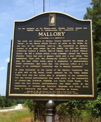 Mallory Marker image. Click for full size.