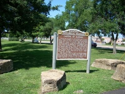 Area photo of the Capital of Kansas Marker image. Click for full size.