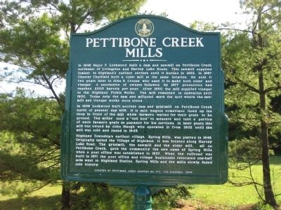 Pettibone Creek Mills Marker image. Click for full size.