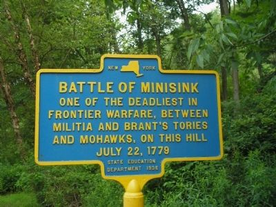Battle of Minisink Marker image. Click for full size.