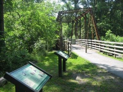 The Pratt Through-Truss Bridge Marker Photo, Click for full size
