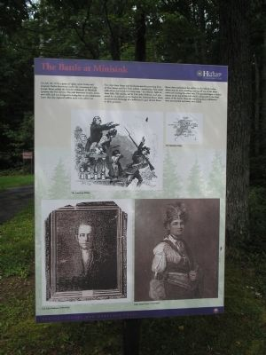 The Battle at Minisink Marker image. Click for full size.