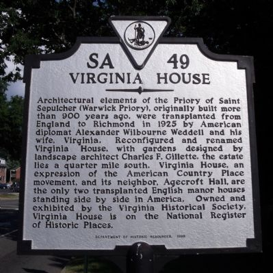 Virginia House Marker image. Click for full size.