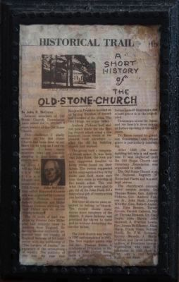 A Short History of the Old Stone Church Photo, Click for full size