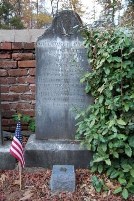 Gen. Andrew Pickens Tombstone Photo, Click for full size