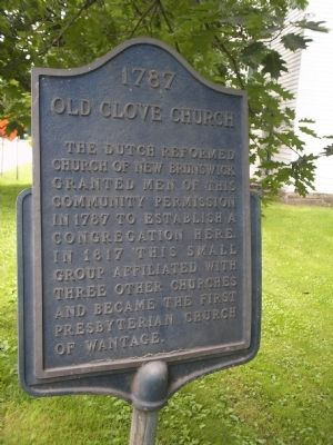 Old Clove Church Marker image. Click for full size.