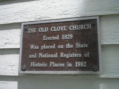 Second Plaque on Old Clove Church image. Click for full size.
