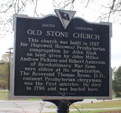 Old Stone Church Marker Photo, Click for full size